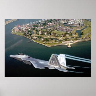 Raptor Over Fort Monroe Poster