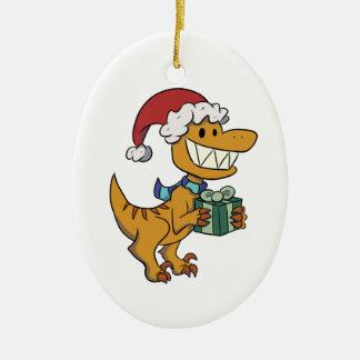 Raptor Present Ornament