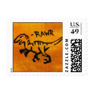 Raptor Rawr Postage Stamps