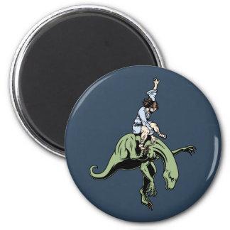 Raptor Rodeo Jesus 2 Inch Round Magnet