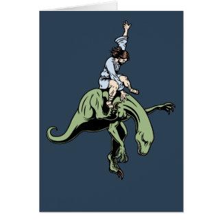 Raptor Rodeo Jesus Card