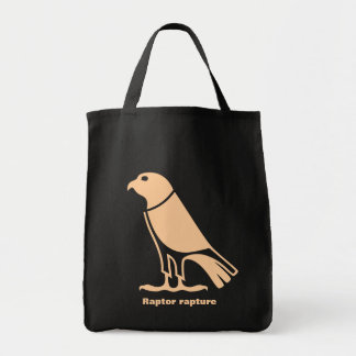 Raptor vector bird shopping bag 'Raptor rapture'
