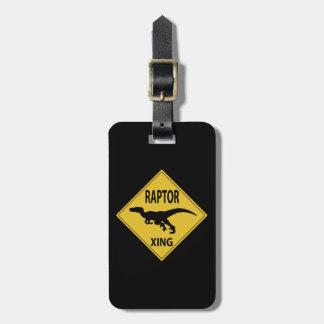 Raptor Xing Luggage Tag