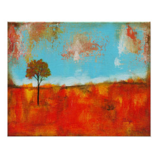 Rapture Abstract Landscape Tree Art Large Poster
