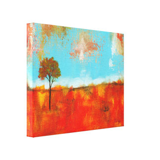 Rapture Abstract Landscape Tree Art Painting Canvas Print