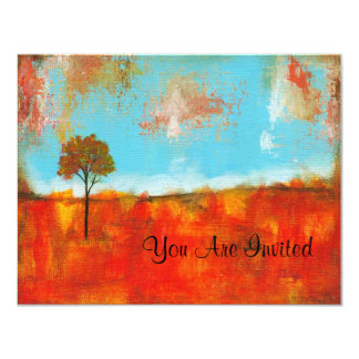 Rapture Abstract Landscape Tree Art Painting Card