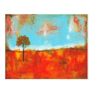 Rapture Abstract Landscape Tree Art Painting Flyer