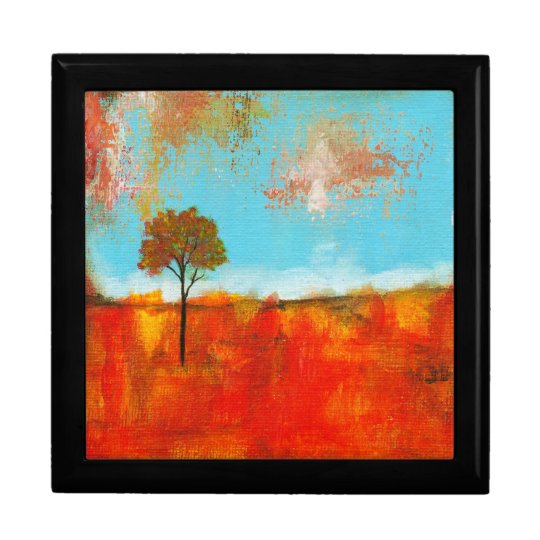 Rapture Abstract Landscape Tree Art Painting Jewelry Box