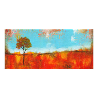 Rapture Abstract Landscape Tree Art Painting Rack Card