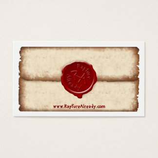 Rapture Already! Sealed Parchment Personal Card