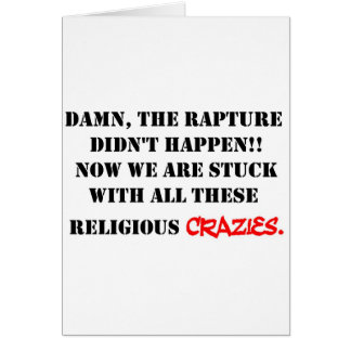 Rapture Crazies Card
