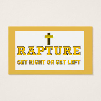 Rapture - Cross Business Card