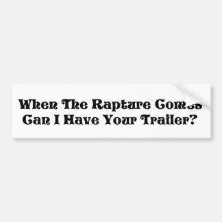 Rapture Garage Sale Car Bumper Sticker