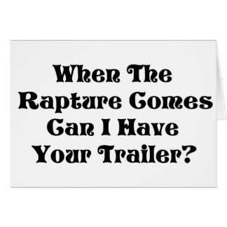 Rapture Garage Sale Card