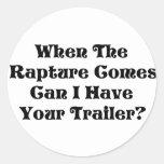 Rapture Garage Sale Classic Round Sticker