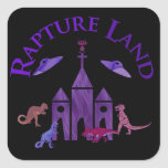 Rapture Land Square Stickers