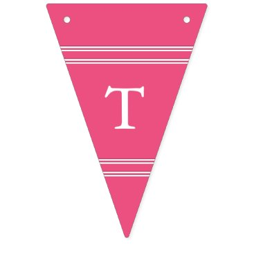 Beach Themed Rapture Rose Pink - Spring 2018 London Color Bunting Flags