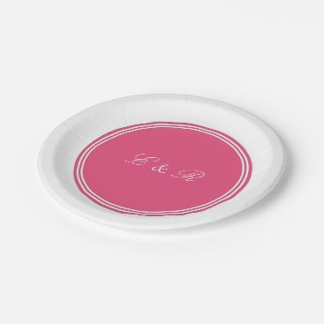 Beach Themed Rapture Rose Pink - Spring 2018 London Color Paper Plate