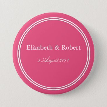 Beach Themed Rapture Rose Pink - Spring 2018 London Color Pinback Button