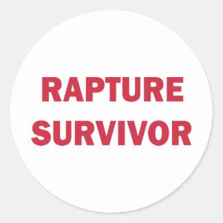 Rapture Survivor Round Stickers