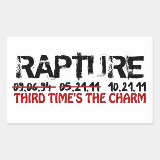 Rapture - Third Time's The Charm Rectangular Sticker
