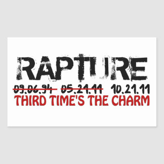 Rapture - Third Time's The Charm Rectangle Sticker
