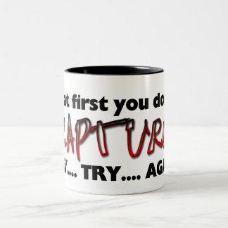 Rapture - Try Try Again Two-Tone Coffee Mug