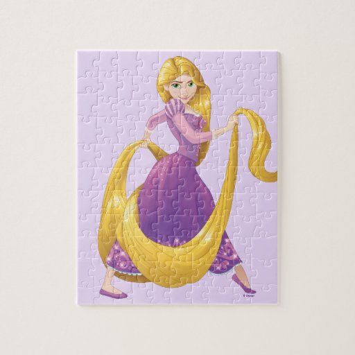 Rapunzel Big Hair Day Jigsaw Puzzle Zazzle