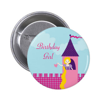 Rapunzel Birthday Button