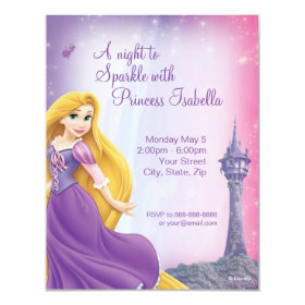 Rapunzel Birthday Invitation 4.25