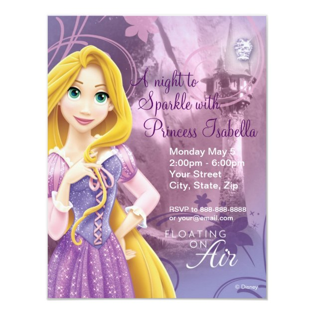 36 Disney Birthday Party Invitations For Kids – Rapunzel Party Invitations