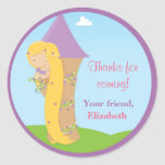 Rapunzel Birthday Party Classic Round Sticker