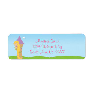 Rapunzel Birthday Party Custom Return Address Label