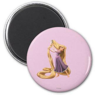Rapunzel Brushing Hair 2 2 Inch Round Magnet