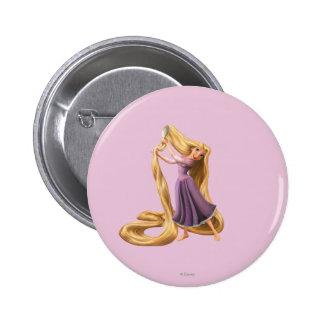 Rapunzel Brushing Hair 2 Pinback Button