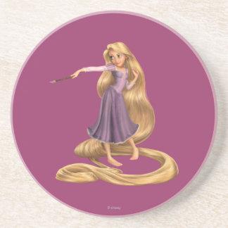 Rapunzel con la brocha 2 posavasos personalizados
