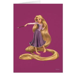 Rapunzel con la brocha 2 tarjeta de felicitación