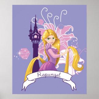 Rapunzel - Determined Poster