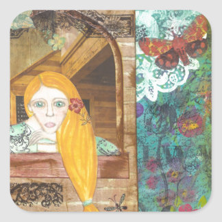 Rapunzel, Dreaming Square Stickers