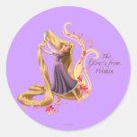 Rapunzel - el resplandor de dentro pegatinas redondas