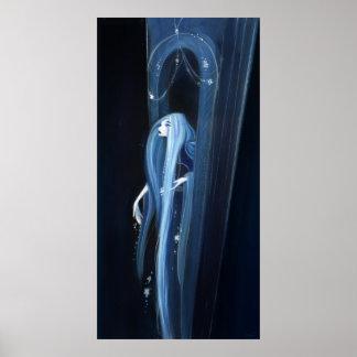 Rapunzel en la noche póster