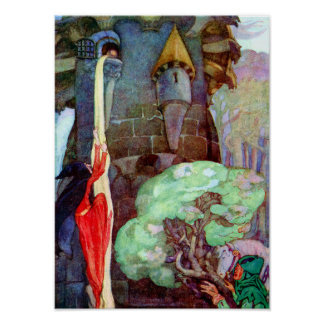 Rapunzel Fairy Tale by Anne Anderson Print