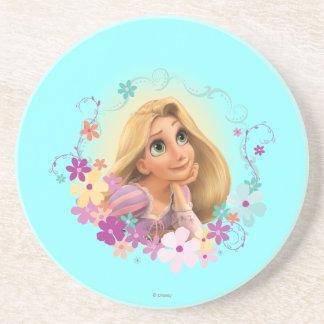 Rapunzel Flower Frame Beverage Coasters