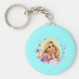 Rapunzel Flower Frame Keychain