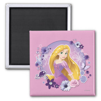 Rapunzel - I Light my Own Way 2 Inch Square Magnet
