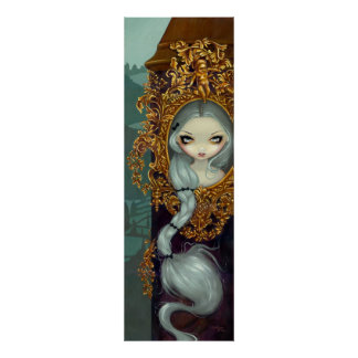 Rapunzel in Rococo gothic fairy tale Art Print
