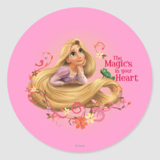 Rapunzel - la magia en su corazón pegatina redonda