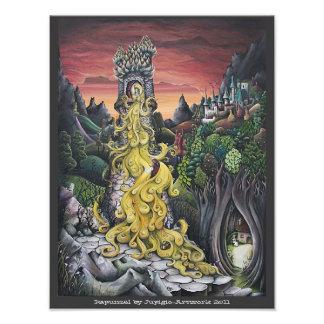 Rapunzel painting photo print