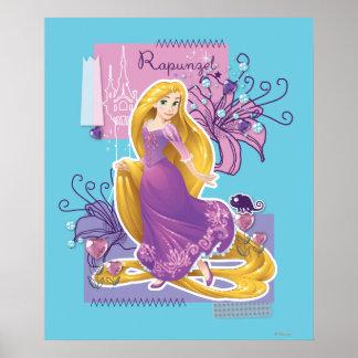 Rapunzel - princesa artística póster