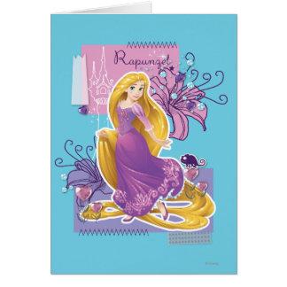 Rapunzel - princesa artística tarjeta de felicitación